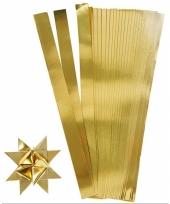 Papieren vouw stroken goud 45 cm