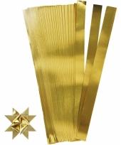 Papieren vouw stroken goud 73 cm