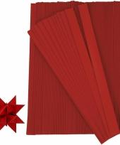 Papieren vouw stroken rood 500 stuks