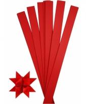 Papieren vouw stroken rood 73 cm