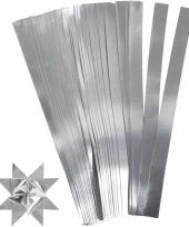 Papieren vouw stroken zilver 45 cm
