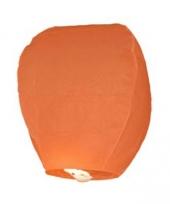 Papieren wenslantaarn oranje