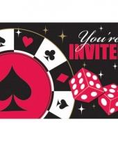 Party bekers casino uitnodigingen