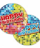 Party bordjes happy birthday 18 cm 10145075