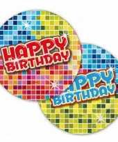 Party bordjes happy birthday 18 cm 10145075