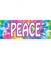 Peace banner hippie feest decoratie