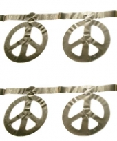 Peace teken slinger zilver 5 m