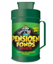 Pensioen pot collectebus