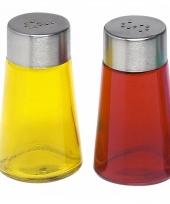 Peper en zout strooiers setje geel rood