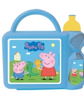 Peppa big lunchbox blauw nickelodeon