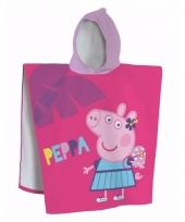 Peppa pig afdroogponcho voor kinderen