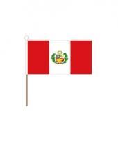 Peru versiering zwaaivlag 15 x 23 cm