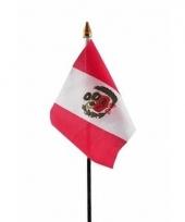 Peruaanse landenvlag op stokje