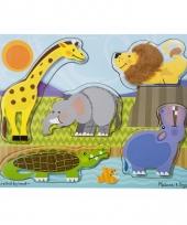 Peuter puzzel met dierentuindieren