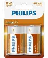 Phillips ll batterijen r20 1 5 volt 2 stuks