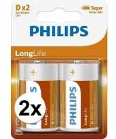 Phillips ll batterijen r20 1 5 volt 4 stuks