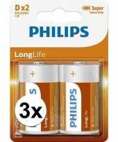 Phillips ll batterijen r20 1 5 volt 6 stuks