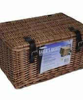 Picknickmand bruin 45 x 30 x 25 cm