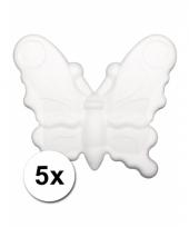 Piepschuimen vlindertje 12 5 cm 5 stuks