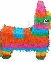 Pinata gekleurde ezel 40 cm