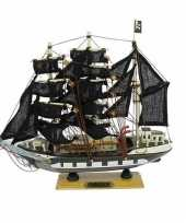 Piratenboot decoratie 24 cm