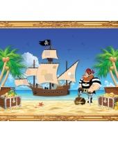 Piratenschip roodbaard poster