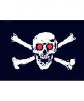 Piratenvlag met rode ogen