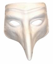 Plaag comedy masker wit