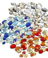 Plak diamantjes steentjes mix set 1080 stuks