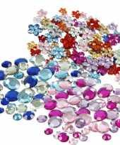 Plak diamantjes steentjes mix set 972 stuks