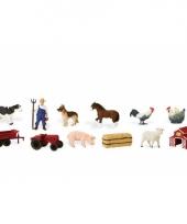 Plastic boerderij thema figuren
