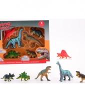 Plastic dieren 6x dinosaurus