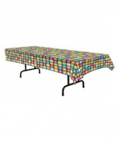 Plastic disco tafelkleed 275 x 135 cm