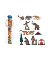 Plastic figuren uit de oertijd 12 stuks