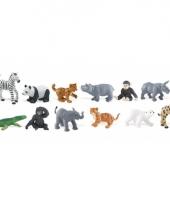 Plastic figuren van dierentuin dieren