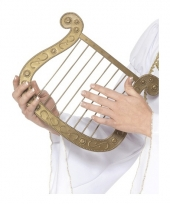 Plastic harp goud