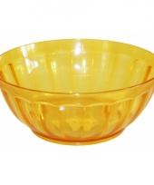 Plastic schaaltje geel 24 5 cm