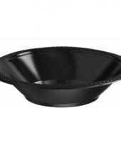 Plastic schaaltjes zwart 10 stuks