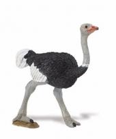 Plastic struisvogel 8 cm