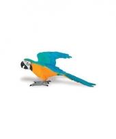 Plastic vogel ara papegaai 10cm 10077365