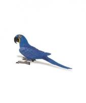Plastic vogel ara papegaai 11cm