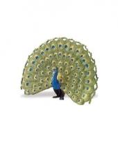 Plastic vogel pauw papegaai 11cm