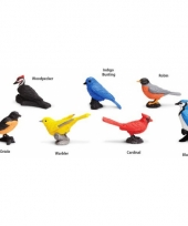 Plastic vogel speelfiguren