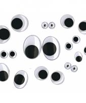 Plastic wiebel ogen 100 stuks