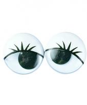 Plastic wiebel ogen met wimpers 6x