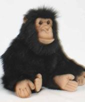 Pluche apen knuffel chimpansee 25 cm