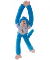 Pluche blauwe aapjes 40 cm