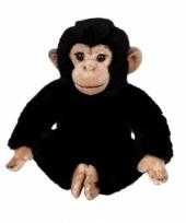 Pluche chimpansees knuffeltjes 25 cm