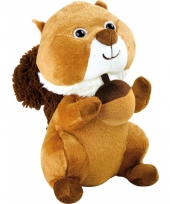 Pluche eekhoorn knuffel 27 cm