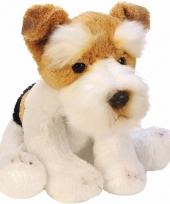 Pluche fox terrier knuffel hond 13 cm
